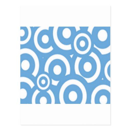 Diseño azul de los círculos postales