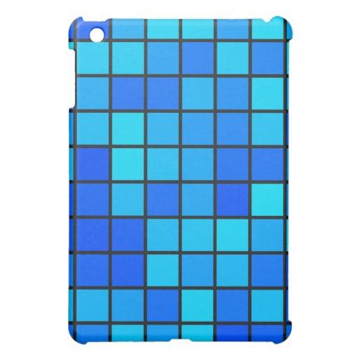 Diseño azul de los cuadrados