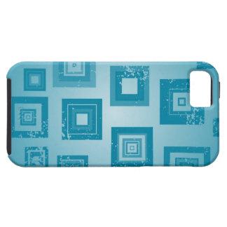 Diseño azul de los cuadrados funda para iPhone SE/5/5s