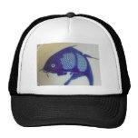 Diseño azul de los pescados gorras de camionero