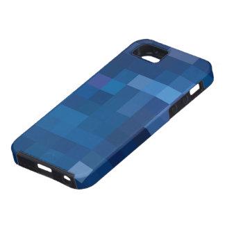 Diseño azul de Pixelated iPhone 5 Case-Mate Funda