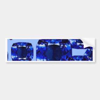 Diseño azul de septiembre Birthstones de los Pegatina Para Auto