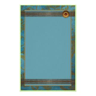 Diseño azul decorativo hermoso del cordón papelería de diseño