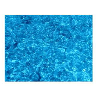 Diseño azul del agua de la playa tarjeta postal