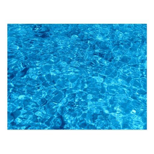 Diseño azul del agua de la playa tarjetas postales
