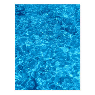 Diseño azul del agua de la playa postal