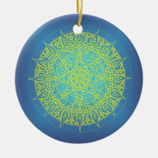 Diseño azul/del amarillo oriental