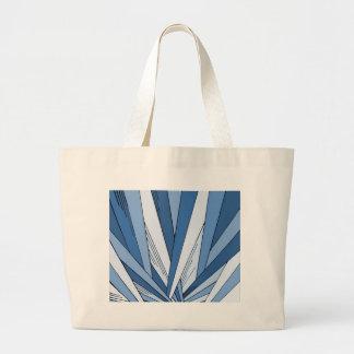 Diseño azul del art déco de la salida del sol bolsa