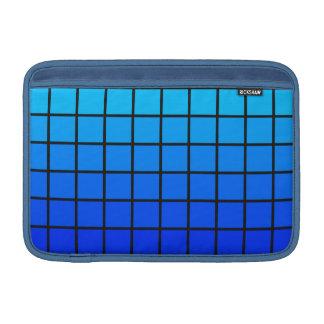Diseño azul del cambio del color de los cuadrados fundas MacBook