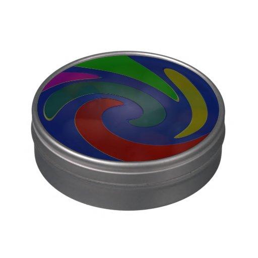 Diseño azul del color rojo de la MOD Jarrones De Caramelos