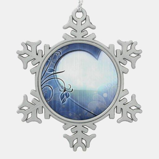 Diseño azul del corazón adorno