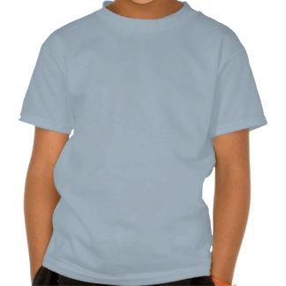 Diseño azul del cráneo camisetas