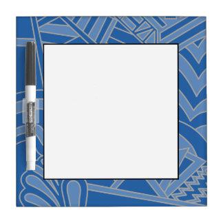 Diseño azul del estilo del art déco pizarras blancas de calidad
