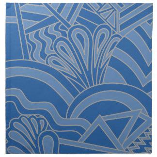 Diseño azul del estilo del art déco servilletas de papel
