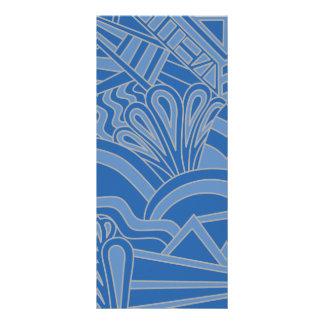 Diseño azul del estilo del art déco diseño de tarjeta publicitaria