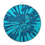 Diseño azul del extracto del chapoteo tablero dardos
