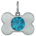 Diseño azul del extracto del chapoteo placas de nombre de mascota