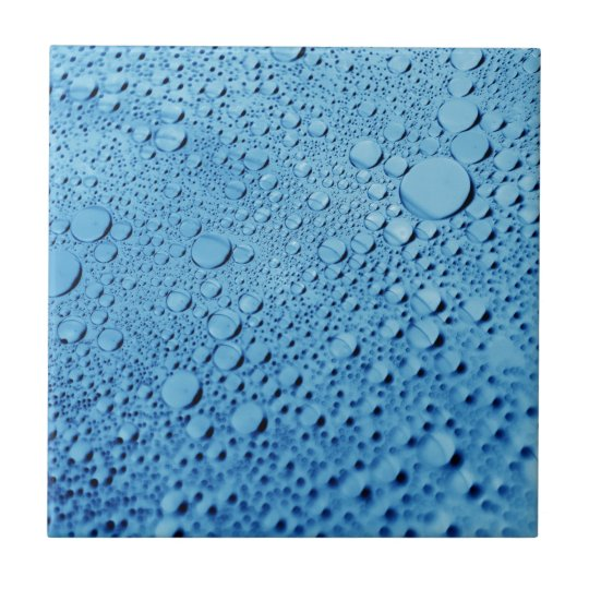 Diseño azul del fondo de los descensos del agua azulejo cuadrado pequeño