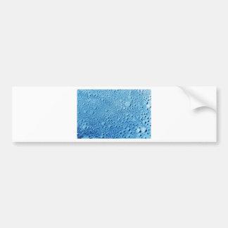 Diseño azul del fondo de los descensos del agua etiqueta de parachoque