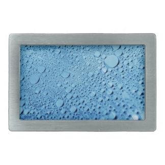 Diseño azul del fondo de los descensos del agua hebillas cinturon rectangulares