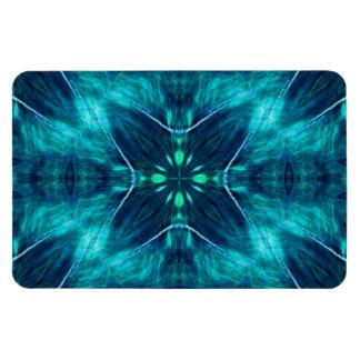 Diseño azul del fractal de la flor imanes flexibles