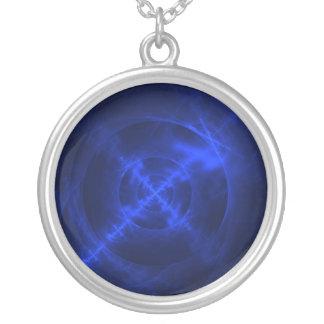 Diseño azul del fractal de los remolinos pendientes