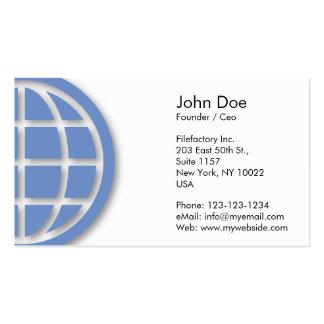 Diseño azul del globo tarjetas de visita