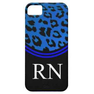 Diseño azul del leopardo del caso del iPhone 5 de iPhone 5 Fundas