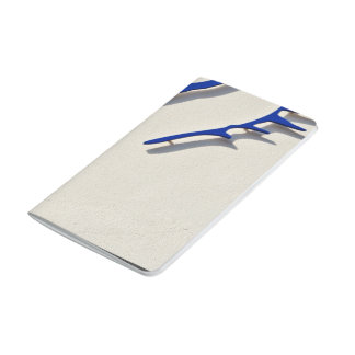Diseño azul del logotipo del caballo cuadernos grapados
