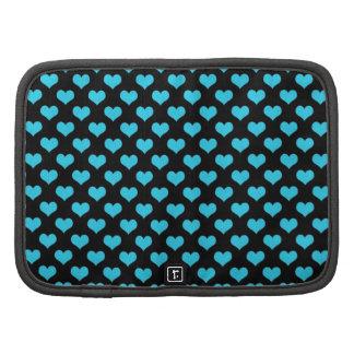 Diseño azul del modelo de los corazones planificadores