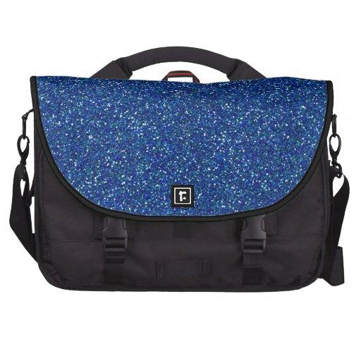 Diseño azul del modelo del arte gráfico de la chis bolsa de ordenador