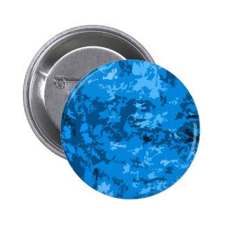 Diseño azul del modelo del extracto del camuflaje chapa redonda 5 cm