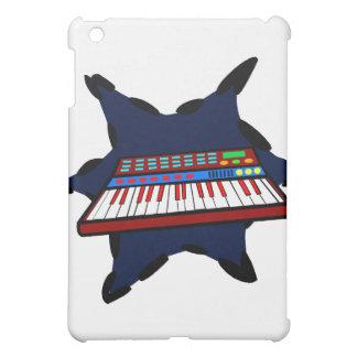 Diseño azul del músico del chapoteo del teclado el