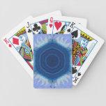 ¡Diseño azul del placer de la ágata! Barajas De Cartas