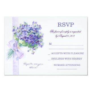 """diseño azul del rsvp del boda del manojo de las invitación 3.5"""" x 5"""""""