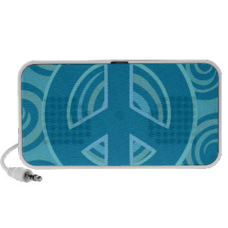 Diseño azul del signo de la paz portátil altavoz