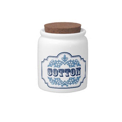 Diseño azul del vintage del envase de las bolas de jarras para caramelos