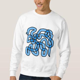 Diseño azul fresco de la serpiente sudaderas encapuchadas