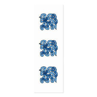 Diseño azul fresco de la serpiente tarjetas de visita