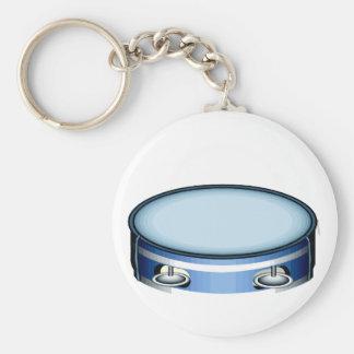 Diseño azul gráfico de Musicial de la vista latera Llavero Redondo Tipo Pin