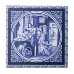 Diseño azul holandés de la teja de Delft del vinta