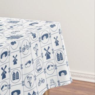 Diseño azul holandés de la tradición manteles