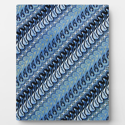 Diseño azul impresionante del modelo rayado placas para mostrar
