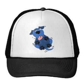Diseño azul lindo del perro gorras de camionero