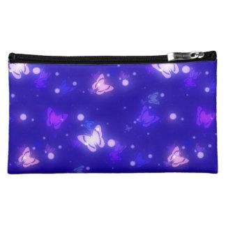 Diseño azul marino de las mariposas ligeras del re