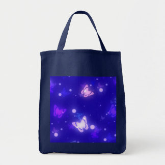 Diseño azul marino de las mariposas ligeras del re bolsa
