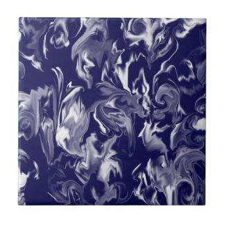 Diseño azul marino y blanco - t azulejo cuadrado pequeño