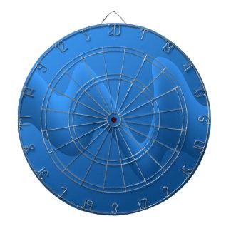 Diseño azul moderno del extracto de la onda tablero dardos