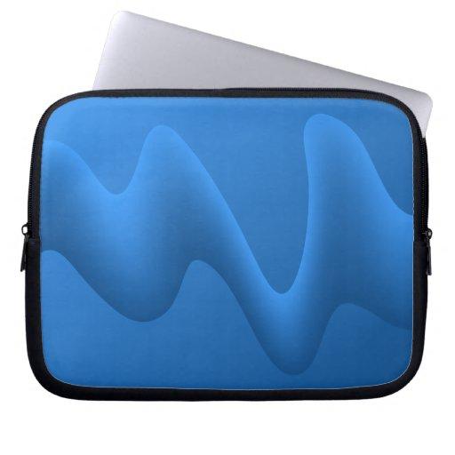 Diseño azul moderno del extracto de la onda mangas portátiles