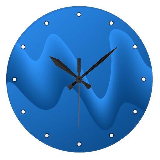 Diseño azul moderno del extracto de la onda relojes